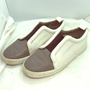 Vince slip on leather shoes